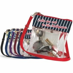 Clear Stadium Approved Crossbody Purse Full Color Ribbon Trim