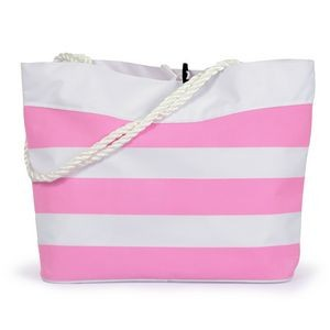 Striped Cabana Rope Tote